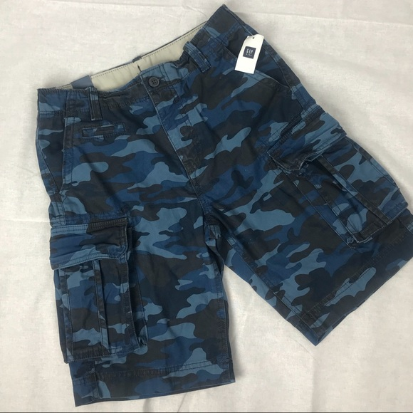 f7229dcad9 GAP Bottoms | Nwt Boys Blue Camo Cargo Shorts 14 Regular | Poshmark